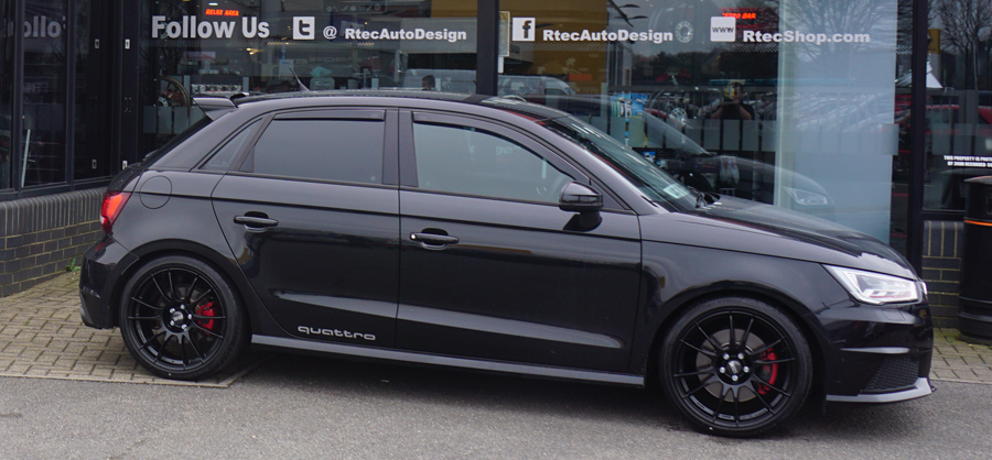 Audi A1/S1 Black Murdered Privacy Glass Tint upgrade at RTec