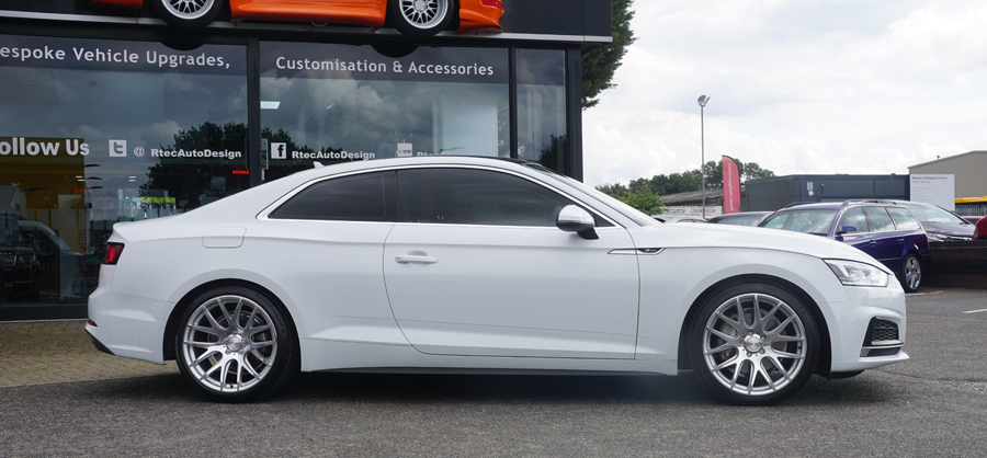 White Audi Privacy Glass Tint upgrade at RTec