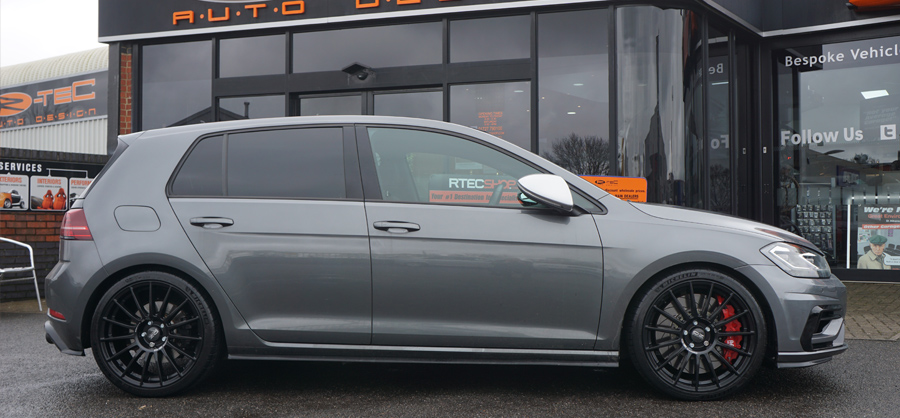 VW Golf MK7 R Grey Privacy Glass Tint upgrade at RTec