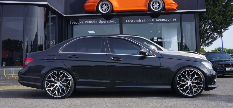 Mercedes C Class Black Vossen Privacy Glass Tint upgrade at RTec