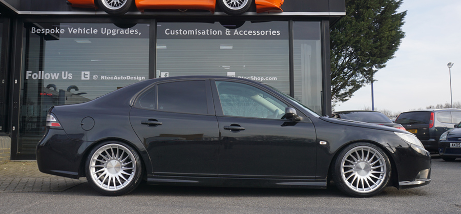 Saab 3SDM Black Silver Privacy Glass Tint upgrade at RTec
