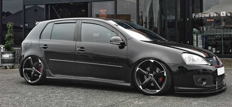 VW Golf Black GTI Privacy Glass Tint upgrade at RTec