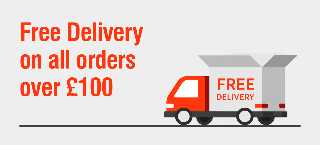 FREE delivery when you spend over 100 GBP